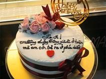 Tặng bánh sinh nhật đẹp nhưng lời chúc bá đạo ở trên bánh mới thực sự