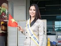Lên đường thi Miss World, Tiểu Vy ghi điểm với gu thời trang quyến rũ