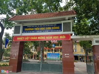 Hiệu trưởng trường tiểu học Sơn Đồng ở Hoài Đức bị kỷ luật cảnh cáo
