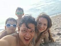 Loạt khoảnh khắc đời thường hạnh phúc của Đan Lê và gia đình trên biển