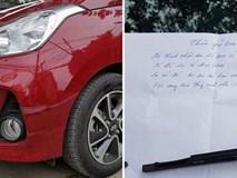 Bị quệt xước ô tô, chủ nhân không thể nổi nóng vì một mảnh giấy