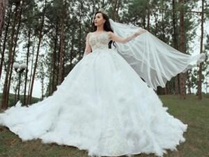 MC Minh Hà tung bộ ảnh diện váy cưới đẹp lộng lẫy ở Đà Lạt