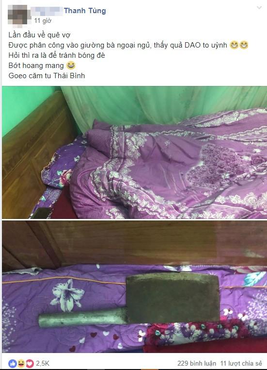 Lần đầu về quê vợ, khi vào buồng bà ngoại chàng trai giật mình khi thấy vật để đầu giường-1
