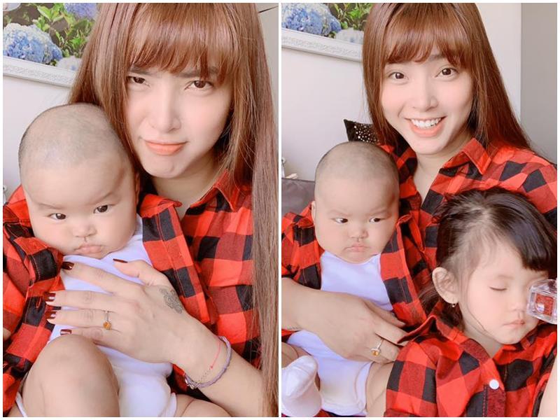 Chân dung cậu con trai 3 tháng tuổi sắp lên chức anh của Hải Băng - Thành Đạt-1