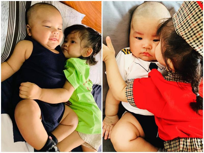 Chân dung cậu con trai 3 tháng tuổi sắp lên chức anh của Hải Băng - Thành Đạt-12