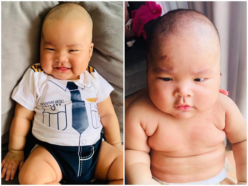 Chân dung cậu con trai 3 tháng tuổi sắp lên chức anh của Hải Băng - Thành Đạt-3