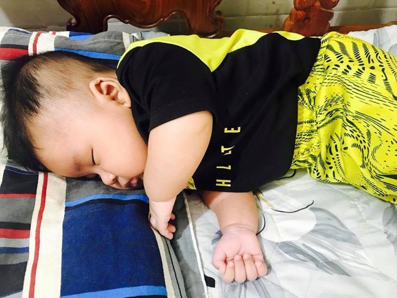 Chân dung cậu con trai 3 tháng tuổi sắp lên chức anh của Hải Băng - Thành Đạt-5