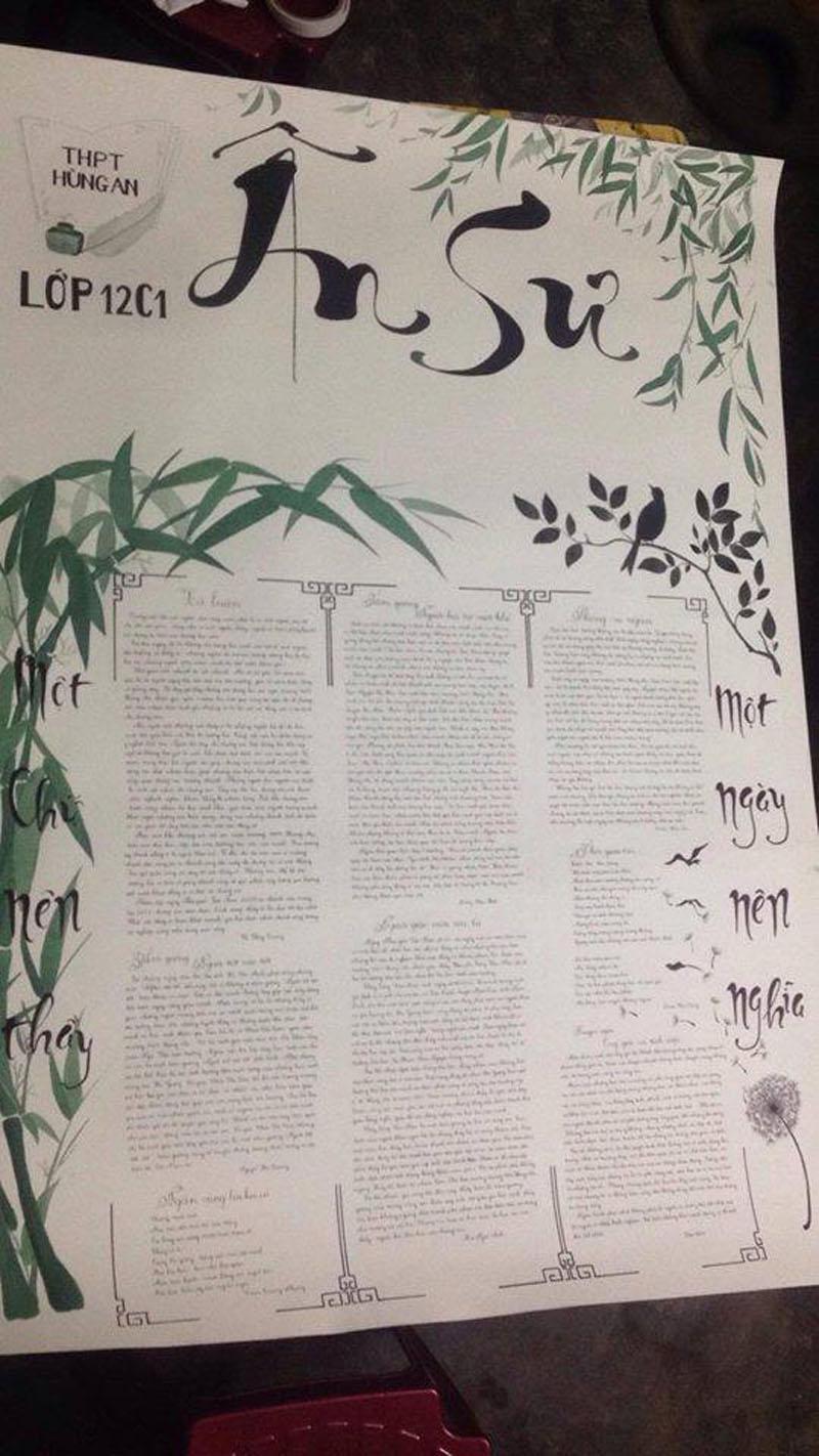 Những trang báo tường sáng tạo dịp 20/11: Đến cả Harry Potter và Diên Hi công lược cũng được đưa vào-7