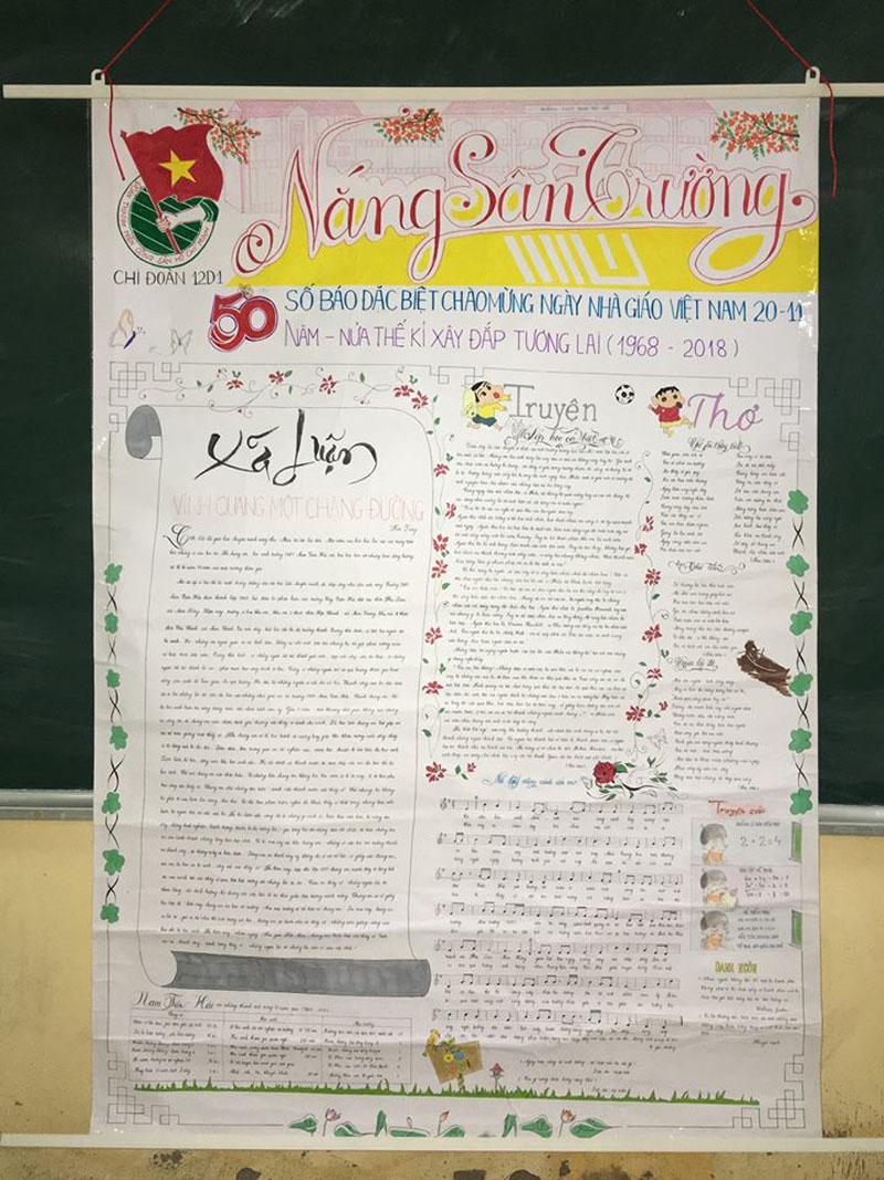 Những trang báo tường sáng tạo dịp 20/11: Đến cả Harry Potter và Diên Hi công lược cũng được đưa vào-8