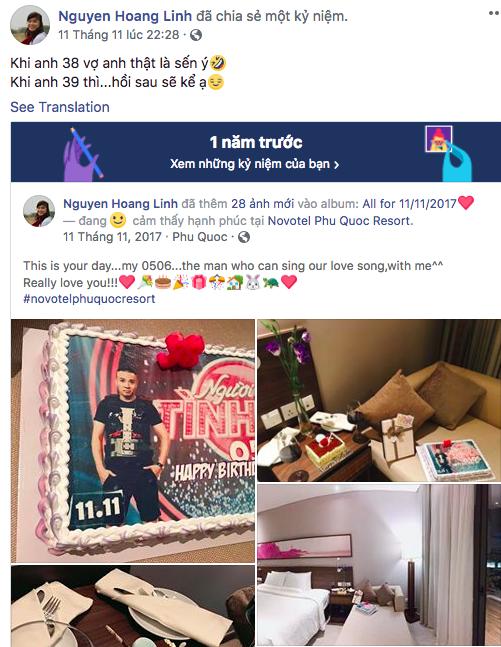 Trước khi công bố chia tay, MC Hoàng Linh vẫn liên tục cập nhật hình ảnh hạnh phúc với hôn phu lên Facebook-8