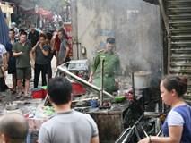 Cháy ki-ốt chợ Bưởi, cả trăm tiểu thương sợ dựng tóc gáy