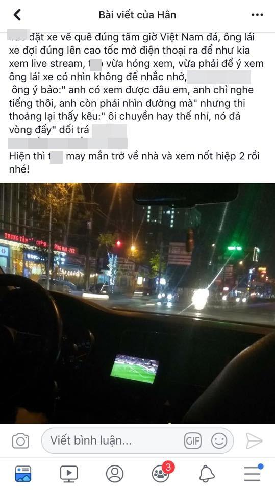 Vừa lái xe vừa xem trận Việt Nam - Malaysia, tài xế khiến cô gái như ngồi trên đống lửa vì những lời bình-1