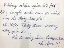 Thầy giáo 'trường người ta' tuyên bố không nhận quà ngày 20/11 với lý do hết sức đáng yêu