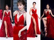 Như một thói quen, Hari Won cứ 10 lần mặc váy đỏ là 9 lần