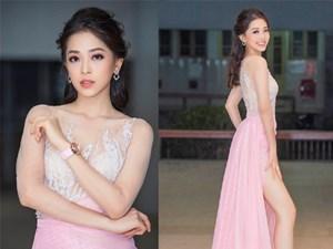 Á hậu Phương Nga khoe chân dài nõn nà với váy xuyên thấu