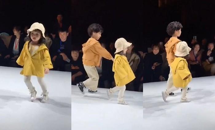 Cứu vãn màn biểu diễn thời trang đang hỗn loạn ở trường mầm non, cậu bé bỗng nổi tiếng như cồn-3