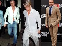 Trước khi mặc đẹp nhất thế giới, Beckham từng lao đao vì mặc thảm họa