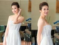 Siêu mẫu Thanh Hằng mặc váy cúp ngực siêu gợi cảm