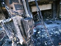Hiện trường đổ nát sau vụ cháy kinh hoàng ở Bình Phước khiến 6 người tử vong, trong đó có 2 trẻ nhỏ
