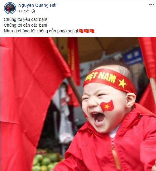 Quang Hải, Bùi Tiến Dũng: Chúng tôi không cần pháo sáng-1