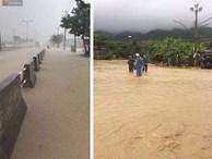 Nha Trang ngập sâu trong biển nước, sạt lở kinh hoàng trong cơn bão số 9