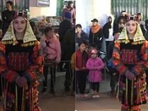 Bị chụp lén trong lễ hội tại Hà Giang, cô gái trong trang phục dân tộc gây