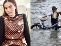 Đi lưu diễn xa, Hà Hồ bày tỏ lo lắng cho mọi người ở nhà khi hay tin bão số 9 gây thiệt hại lớn
