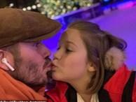 Nụ hôn môi của David Beckham với con gái làm cả cư dân mạng lẫn các sao tranh cãi nảy lửa