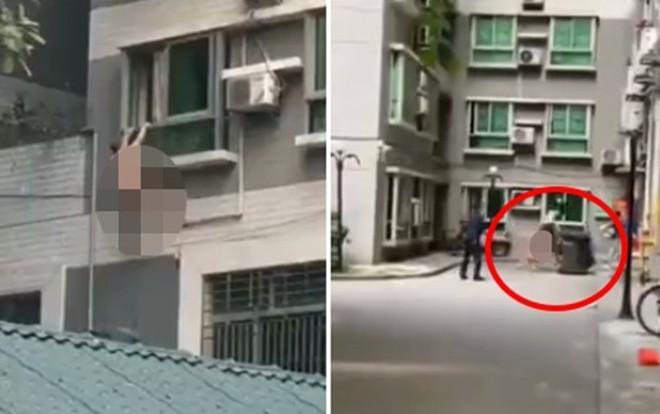 Chồng nhân tình về nhà đột xuất, người đàn ông mình trần đánh đu ngoài cửa sổ-1