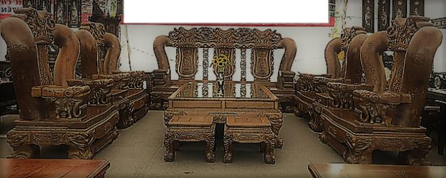 Đã mắt trước bộ bàn ghế gỗ mun đuôi công trị giá 3,2 tỷ đồng-7