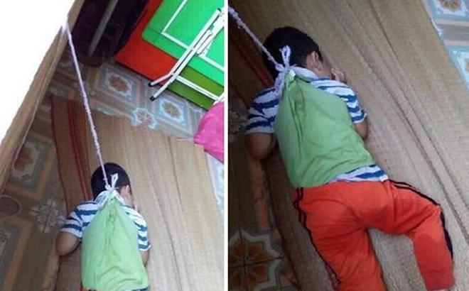 Hai cô giáo thừa nhận buộc dây vào người bé trai 4 tuổi cột lên cửa sổ ở Nam Định-1