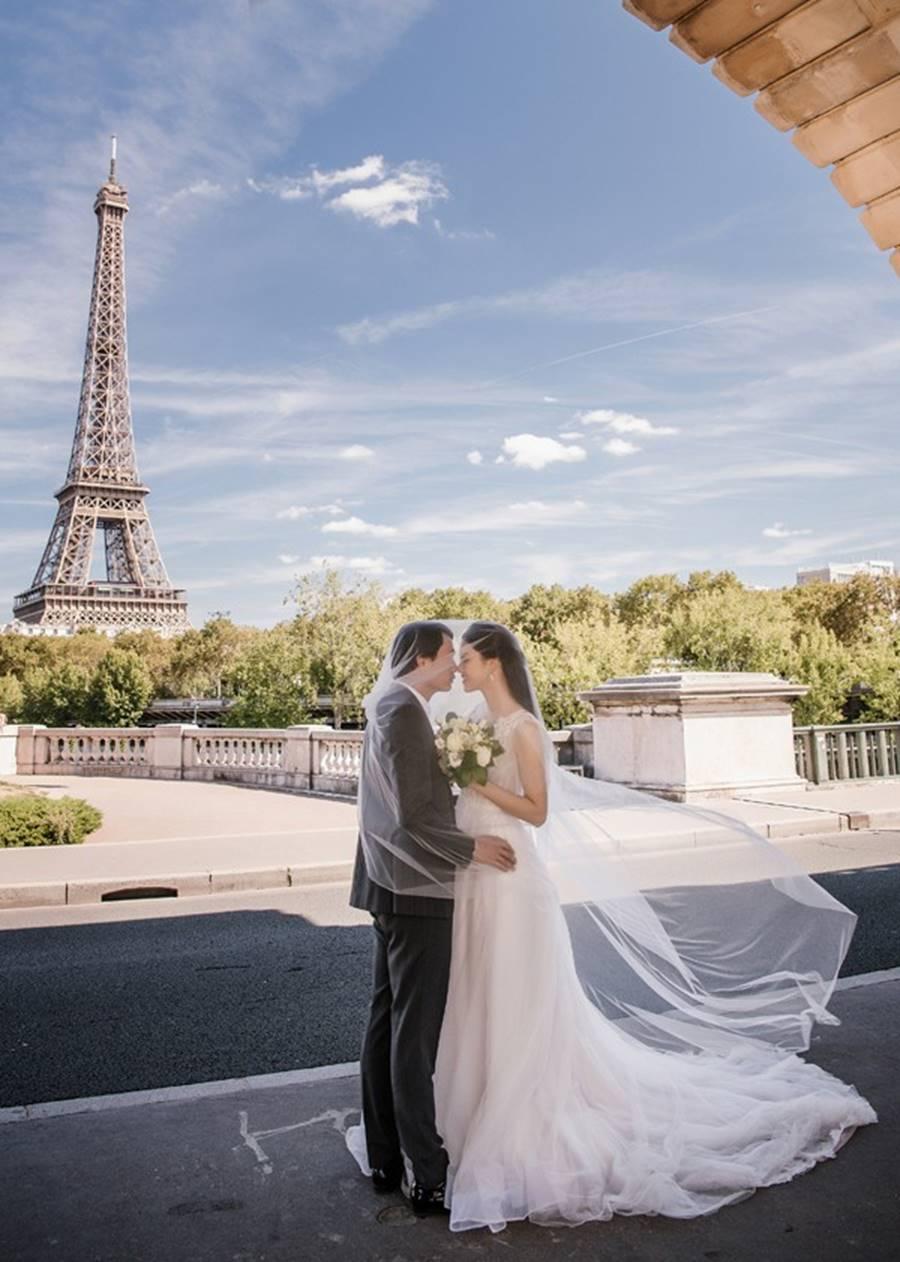 Trọn bộ ảnh cưới xa xỉ, đẹp như tạp chí được chụp tại Pháp của Á hậu Thanh Tú và chồng đại gia hơn 16 tuổi-1
