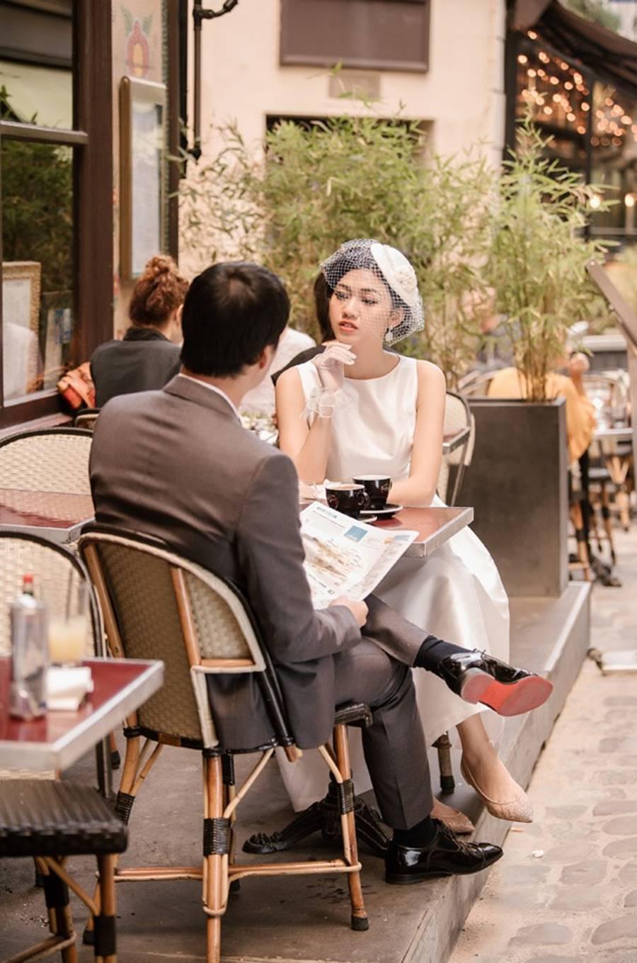 Trọn bộ ảnh cưới xa xỉ, đẹp như tạp chí được chụp tại Pháp của Á hậu Thanh Tú và chồng đại gia hơn 16 tuổi-3