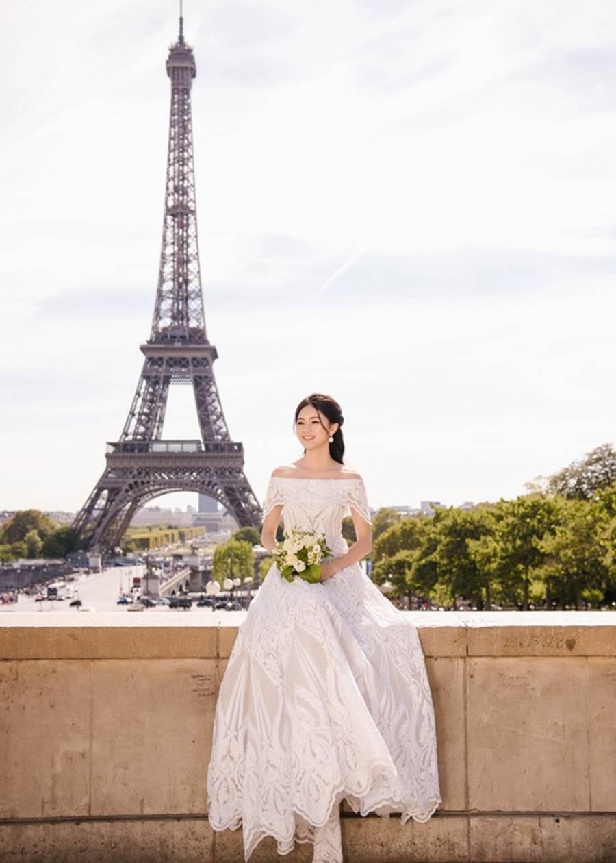 Trọn bộ ảnh cưới xa xỉ, đẹp như tạp chí được chụp tại Pháp của Á hậu Thanh Tú và chồng đại gia hơn 16 tuổi-4