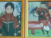 Hình ảnh tuổi thơ của trung vệ Duy Mạnh