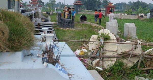 Thực hư việc bắt đối tượng tâm thần đập phá gần trăm bát hương ở nghĩa trang trong đêm-1
