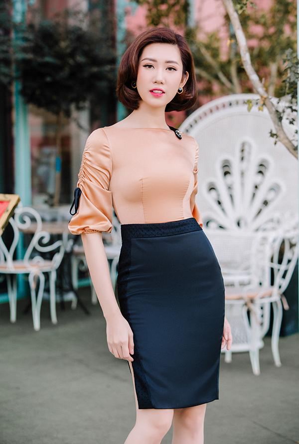 Thúy Ngân khoe thời trang đúng chuẩn hoa hậu-13