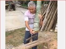 Xem ông chú Trung Quốc hô biến cây tre xanh thành... đồ hiệu trong nháy mắt