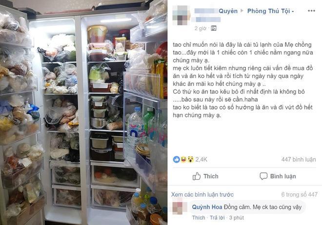 Tủ lạnh thạch sanh của mẹ chồng khiến dân mạng tròn mắt, tưởng số hưởng nhưng không phải-1