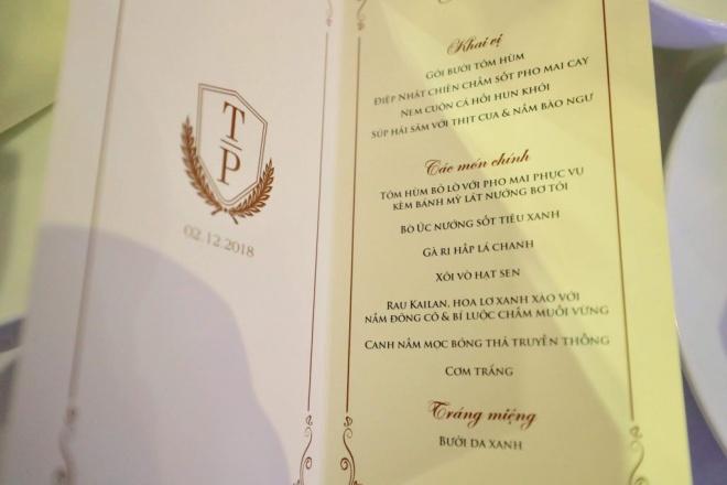 Thực đơn trong đám cưới của Á hậu Thanh Tú và chồng doanh nhân có gì đặc biệt?-5