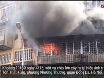 Video: Hiện trường vụ cháy lớn hiệu ảnh ở Hà Nội