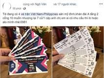 Vé trận Việt Nam vs Philippines trên mạng được hét giá gấp hơn 10 lần