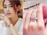 Minh Hằng chính thức lên tiếng về chiếc nhẫn kim cương được đồn đoán là nhẫn đính hôn
