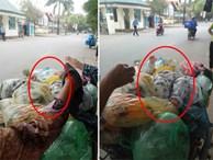 Nữ công nhân môi trường hốt hoảng phát hiện bé trai sơ sinh còn sống, bị bỏ ngay trên đống rác trong thùng
