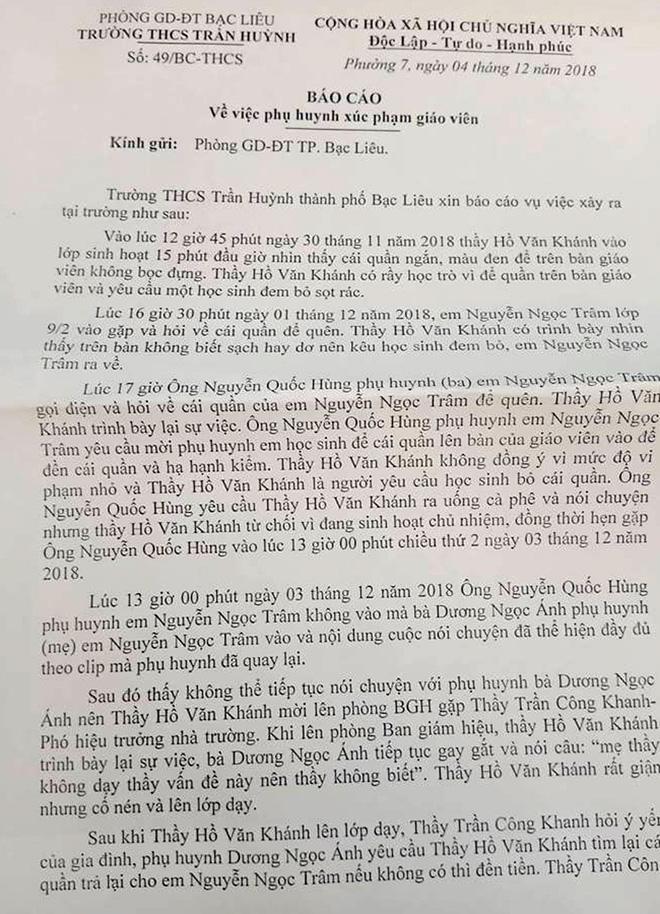 Chồng của phụ huynh xúc phạm thầy giáo vì chiếc quần học sinh bỏ quên đã đến trường xin lỗi-2