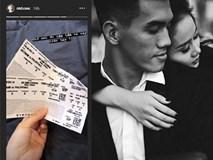 Bạn gái 'vua dội bom ĐTVN' hớn hở khoe cặp vé giá 8 triệu