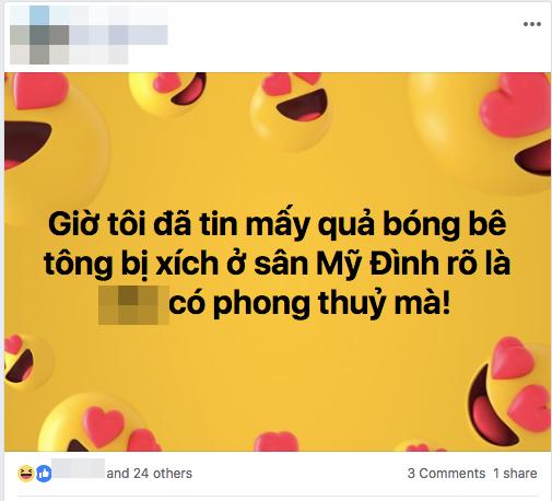Tuyển Việt Nam thoát dớp sân Mỹ Đình, CĐM sôi sục truy tìm người tư vấn chuyển 40 bóng bê tông để nhờ phá ế-4