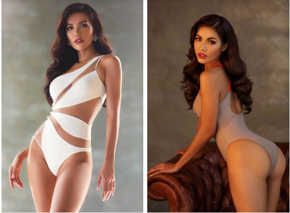 Pha đụng hàng bỏng mắt nhất Vbiz: Minh Tú và HHen Niê đọ body cực phẩm với cùng một thiết kế bikini táo bạo-1