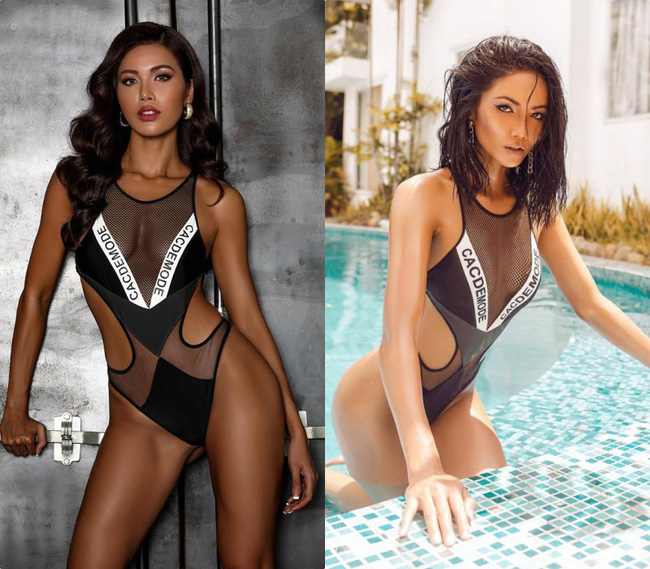 Pha đụng hàng bỏng mắt nhất Vbiz: Minh Tú và HHen Niê đọ body cực phẩm với cùng một thiết kế bikini táo bạo-4