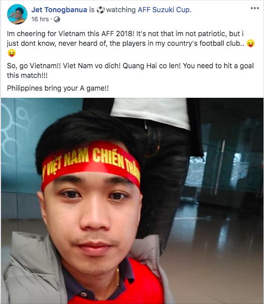 Thầy giáo điển trai người Philippines gây sốt vì cổ vũ cho đội Việt Nam: Chết rồi, tôi không còn đường về nước!-2